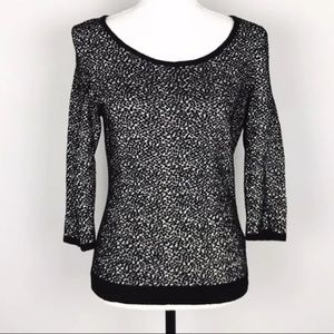 🌟5/$25🌟 Anthro MOTH Black White Sweater Size Med